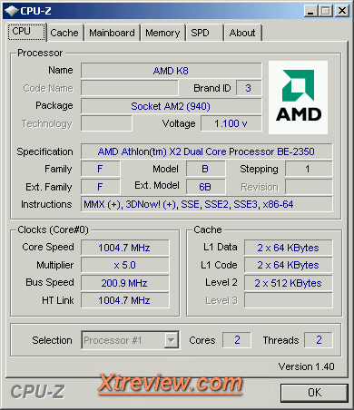 AMD Athlon X2 BE -2350 : cool and quite