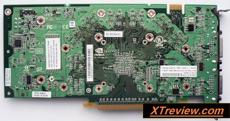 XFX GeForce 8800 GT 512 Mb DDR3 XXX back side