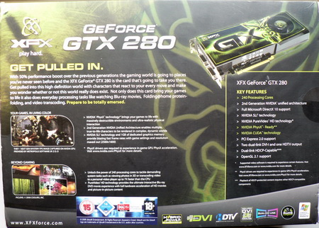 XFX GeForce GTX 280 1 Gb box back
