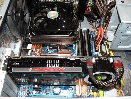 his hd4870x2 fired up