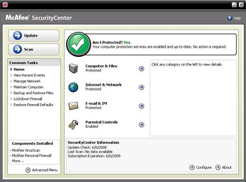 McAfee Total Protection 2008