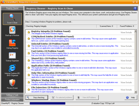 CleanMyPC registry Cleaner